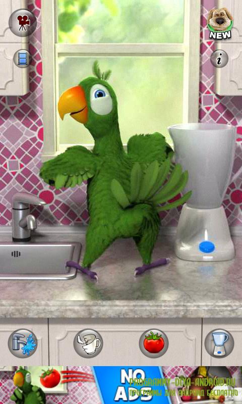 Скачать приложение говорящий попугай